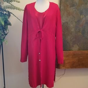 Julian Taylor Red Jacket Dress - Size 14